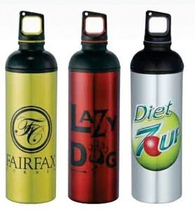 Dual Cap Aluminum Bottle