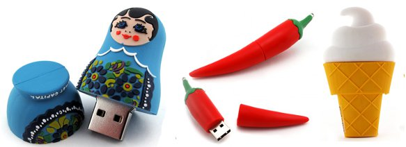 Custom USB drives can be any shape you imagine.
