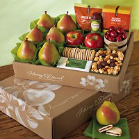 A fruit and nut gift box from Harry and David, a lovely corporate holiday gift