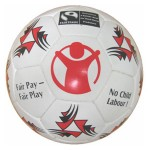 A soccer ball is a dynamic medium for any message