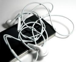 tangled ear buds