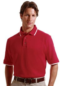 Harriton Pique Polo with Tipping