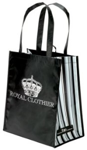 This recycled PET tote bag used to be a water bottle! Now it shows off your brand at the grocery store