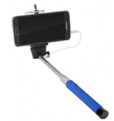 selfie stick in blue.JPG
